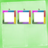Three multicolored frames for photos Royalty Free Stock Photo