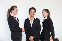 Three multiethnic young businesswomen Stock Image