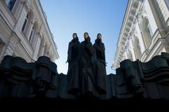 Three Muses in Vilnius Royalty Free Stock Photo