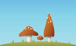 Three Mushrooms Royalty Free Stock Photography