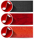 Three Musical Banners - N1 Stock Image