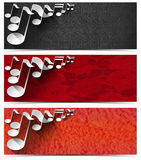 Three Musical Banners - N2 Stock Image