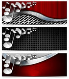 Three Musical Banners - N4 Royalty Free Stock Photo