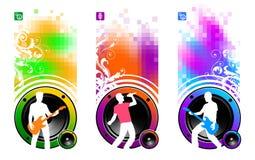 Three musicians Stock Image