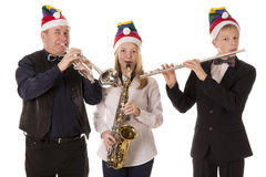 Three musicians play classical music Stock Photography