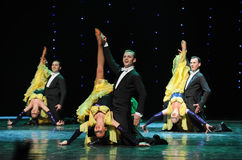 The Three Musketeers-The French Cancan-the Austria's world Dance Royalty Free Stock Photography