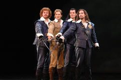 Three Musketeers - the Muscial Royalty Free Stock Photography