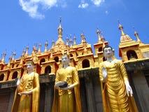 Three Myanmar style buddha Royalty Free Stock Image