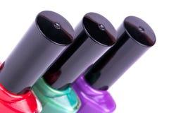 Three nail polish Stock Images