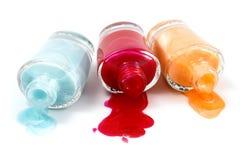 Three nail polish bottle Stock Photography