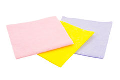 Three napkins on a white background Royalty Free Stock Images