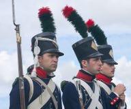 Three Napoleon's soldiers Stock Photos