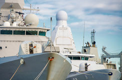 Three naval ships. Stock Photography