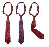 Three neck ties isolated Royalty Free Stock Photos