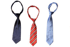 Three neckties. On isolated background Royalty Free Stock Image