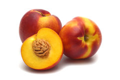 Three nectarine royalty free stock photography