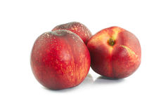 Three nectarines Royalty Free Stock Photos