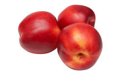 Three nectarines Royalty Free Stock Photography