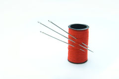 Three needles in the thread Royalty Free Stock Image