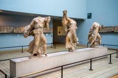 Three Nereids in British Museum, London Stock Photos