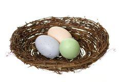 Three Nest Eggs Royalty Free Stock Photo