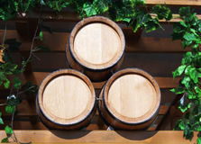 Three new barrels for wine Stock Photography