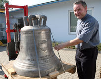 Three new bells for Pope Benedict Royalty Free Stock Images
