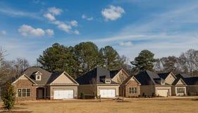 Three New Homes Stock Image