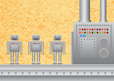 Three New Robots Stock Photography