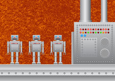 Three new robots Royalty Free Stock Photo