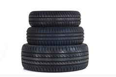 Three new summer tires Royalty Free Stock Photography