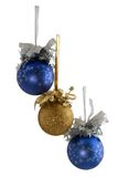 Three new year balls isolated Stock Image