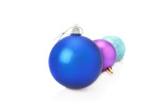 Three  New Year's ball Stock Images
