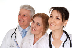Three nice Caucasian doctor standing Royalty Free Stock Photography