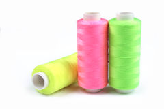 Three nice colorful bobbins Royalty Free Stock Photo