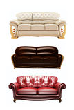 Three nice sofas Royalty Free Stock Photo