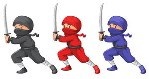 Three ninjas Stock Images
