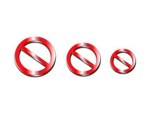 Three no admittance signs Stock Photo