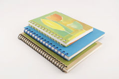 Three notebooks with clipping path Stock Photography