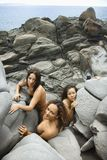 Three nude women. Royalty Free Stock Images