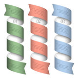 Three numbered ribbons-banners Stock Photo