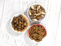Three nuts Stock Photography