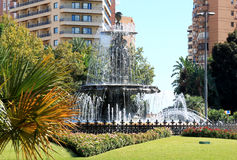 Three Nymphs Fountain in Malaga, Spain Royalty Free Stock Images