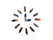 Three o'clock meeting shoes Royalty Free Stock Photography