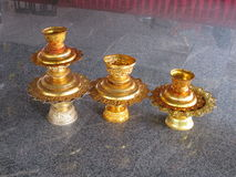 Three offering bowls Wat Nong Yai Pattaya. Three temple offering bowls at Wat Nong Yai Pattaya Thailand Stock Image