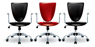 Three office chairs Royalty Free Stock Photo