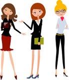 Three office lady. Illustration of three office lady Royalty Free Stock Photo