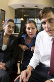 Three office workers Royalty Free Stock Photography