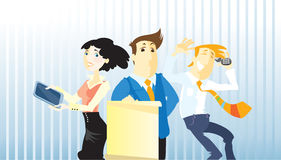 Three office workers Stock Photos
