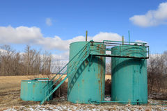 Three oil tanks Stock Photo